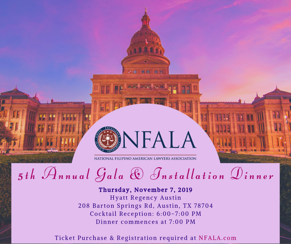 5th Annual Gala and Installation Dinner