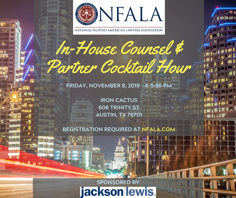 2019 In-House Counsel & Partner Cocktail Hour